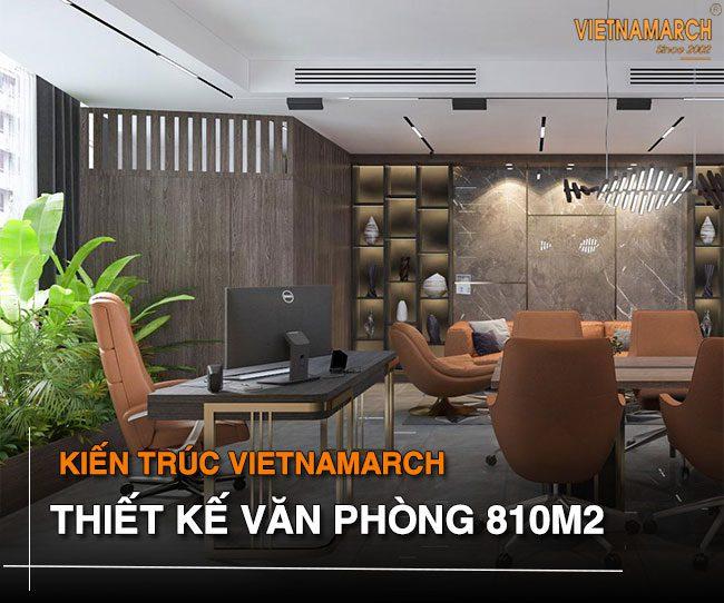 Thiết kế văn phòng 810m2 tại Cổ Nhuế - Bắc Từ Liêm