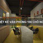 Bản vẽ thiết kế văn phòng 100 chỗ ngồi tại phường Yên Hòa, Cầu Giấy