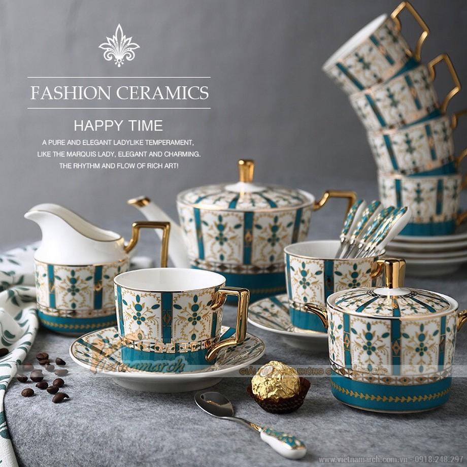 Bộ sản phẩm ấm trà cổ điển phong cách Hoàng Gia
