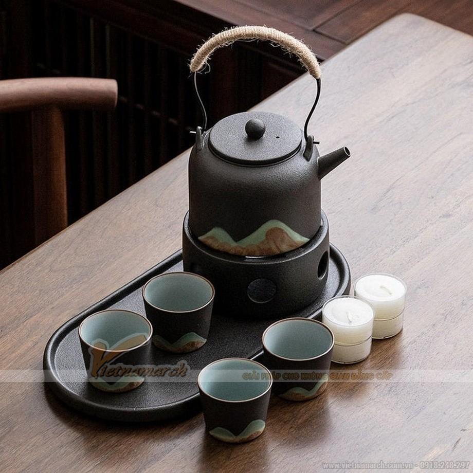 Bộ ấm trà Nhật Bản gốm