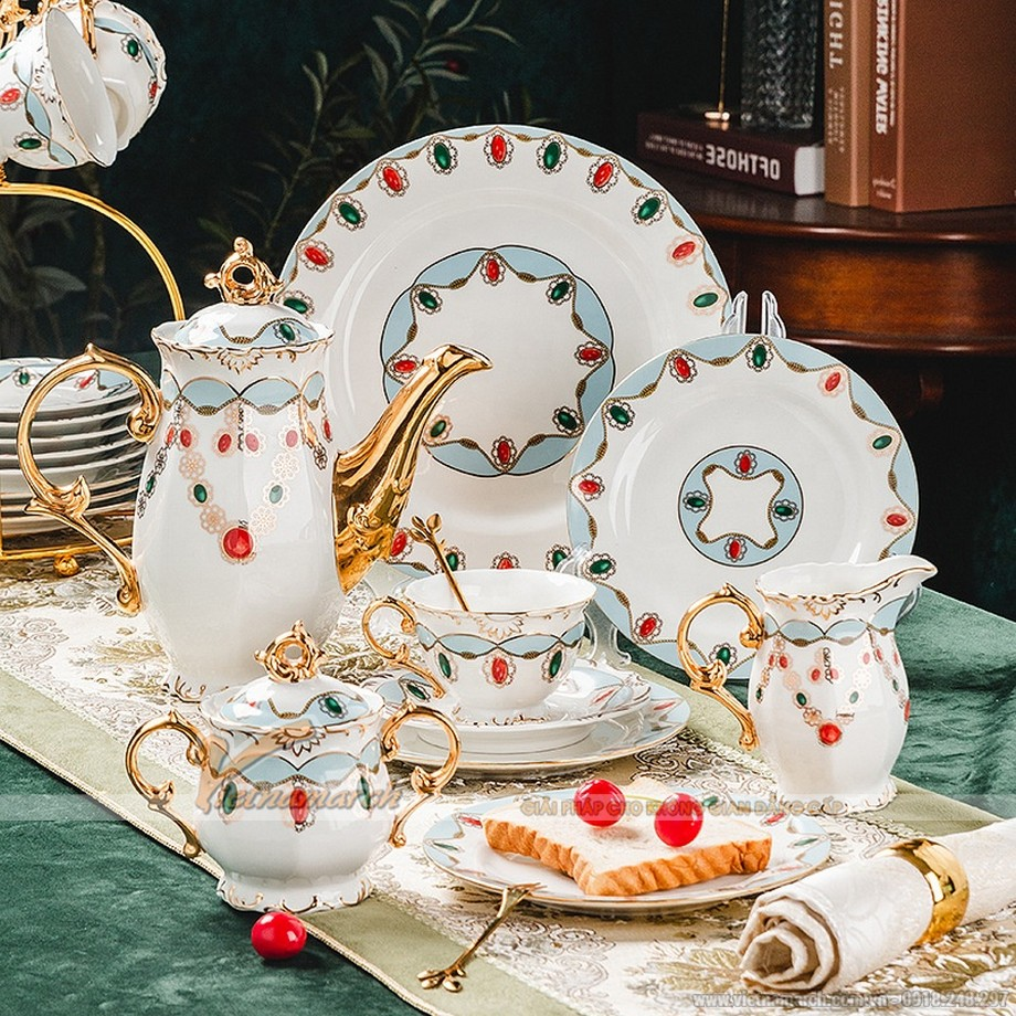 Bộ ấm trà phong cách Châu Âu đẳng cấp Hoàng Gia