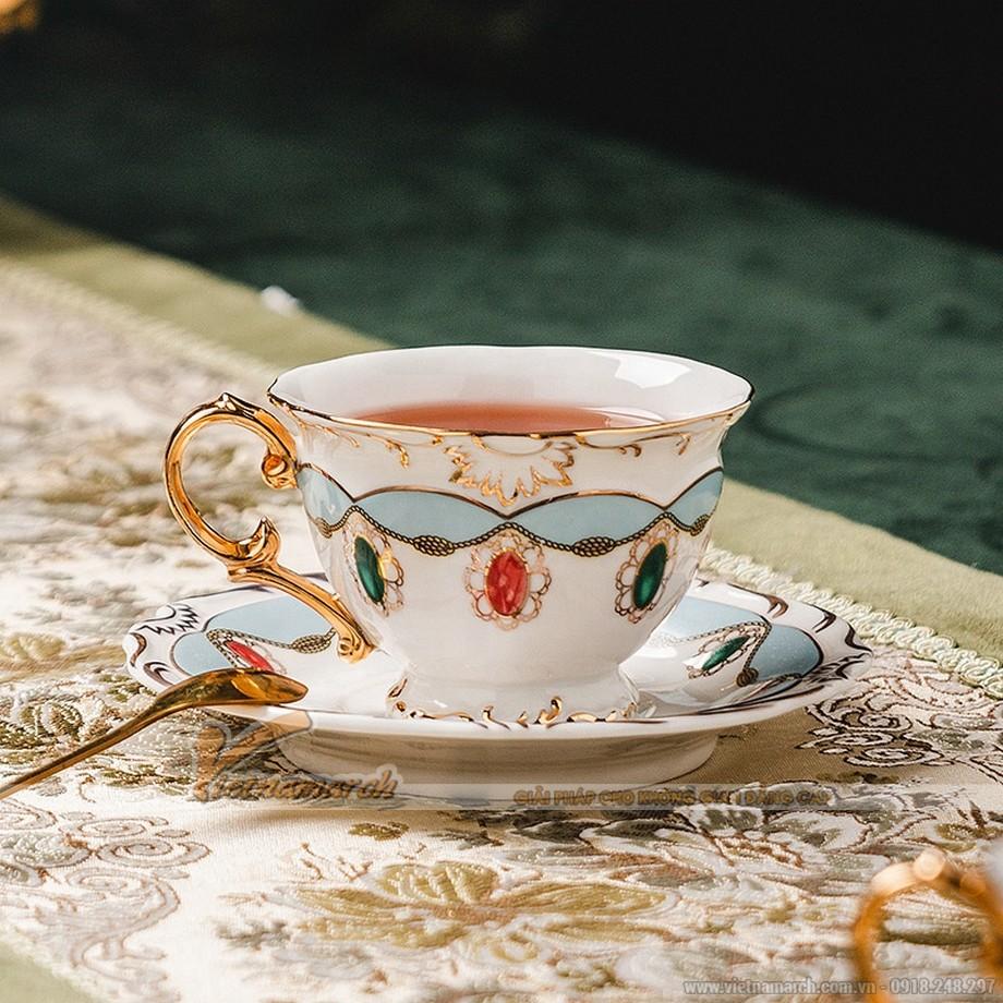 bộ ấm trà đẹp phong cách Châu Âu