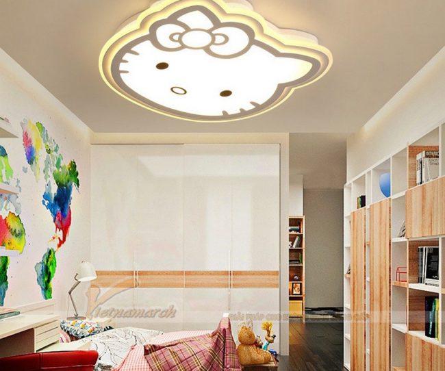 Đèn ngủ cho bé gái ốp trần hình mèo Hello Kitty