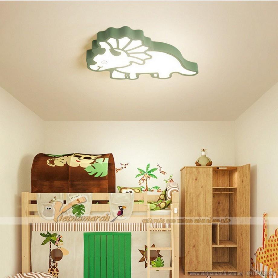 Đèn ngủ cho bé ốp trần hình chú khủng long