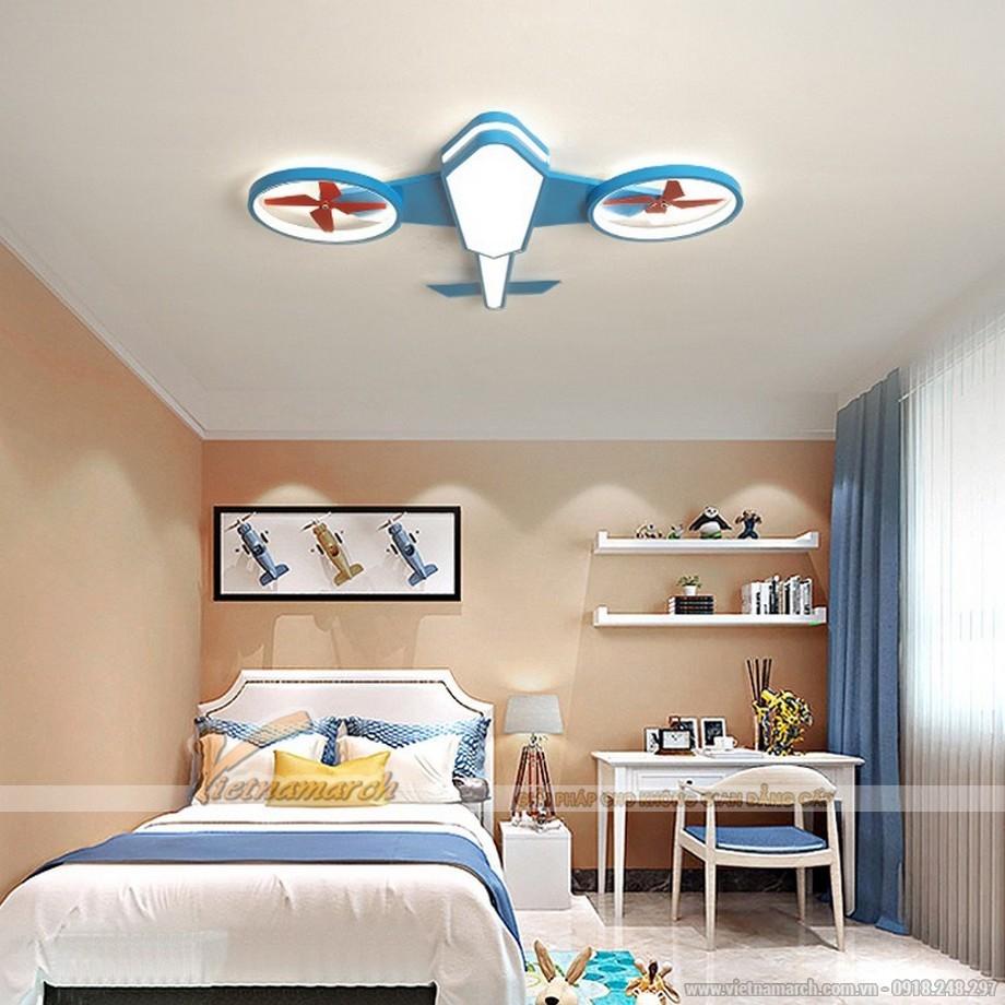 Đèn ngủ cho bé ốp trần hình máy bay