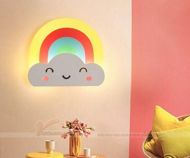 Đèn ngủ treo tường cho bé hình đám mây đáng yêu