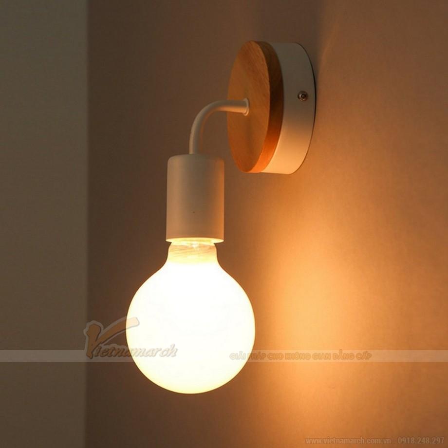 Lựa chọn đèn ngủ treo tường gỗ có ánh sáng dịu nhẹ
