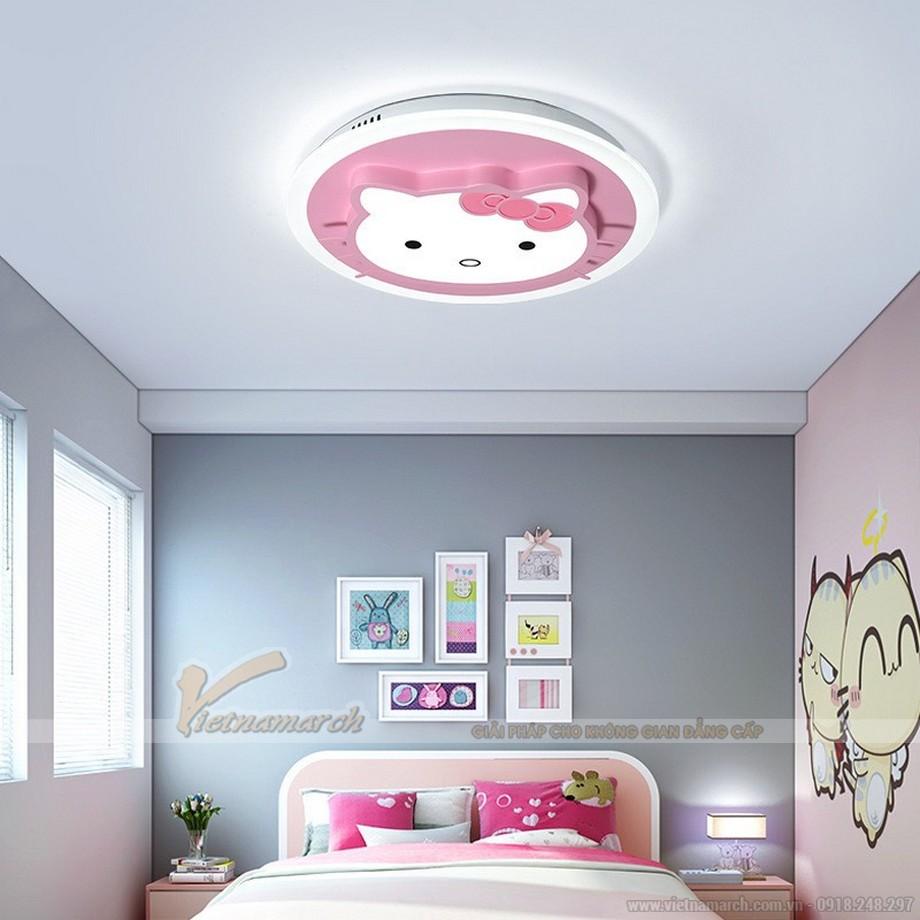 Mẫu đèn ốp trần phòng trẻ em hình mèo Hello Kitty