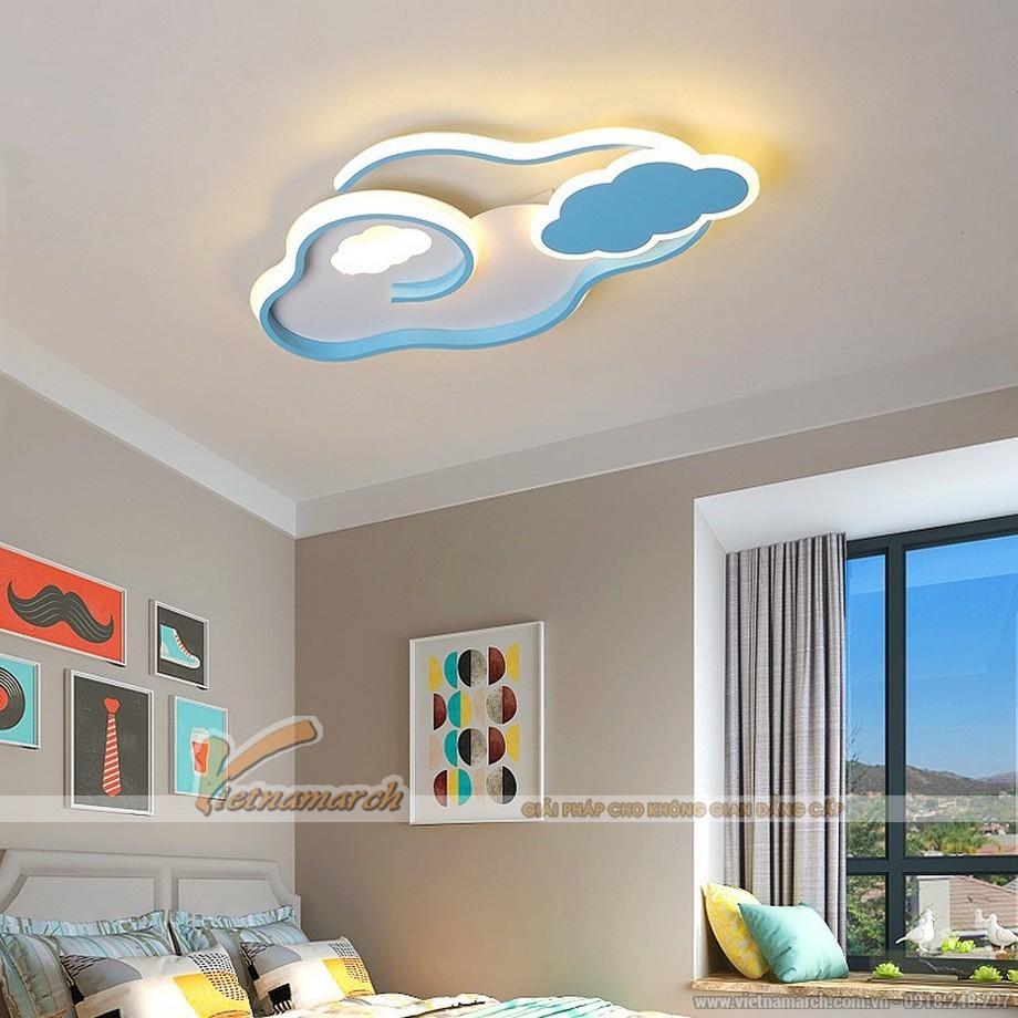 Mẫu đèn ốp trần phòng trẻ em hình đám mây