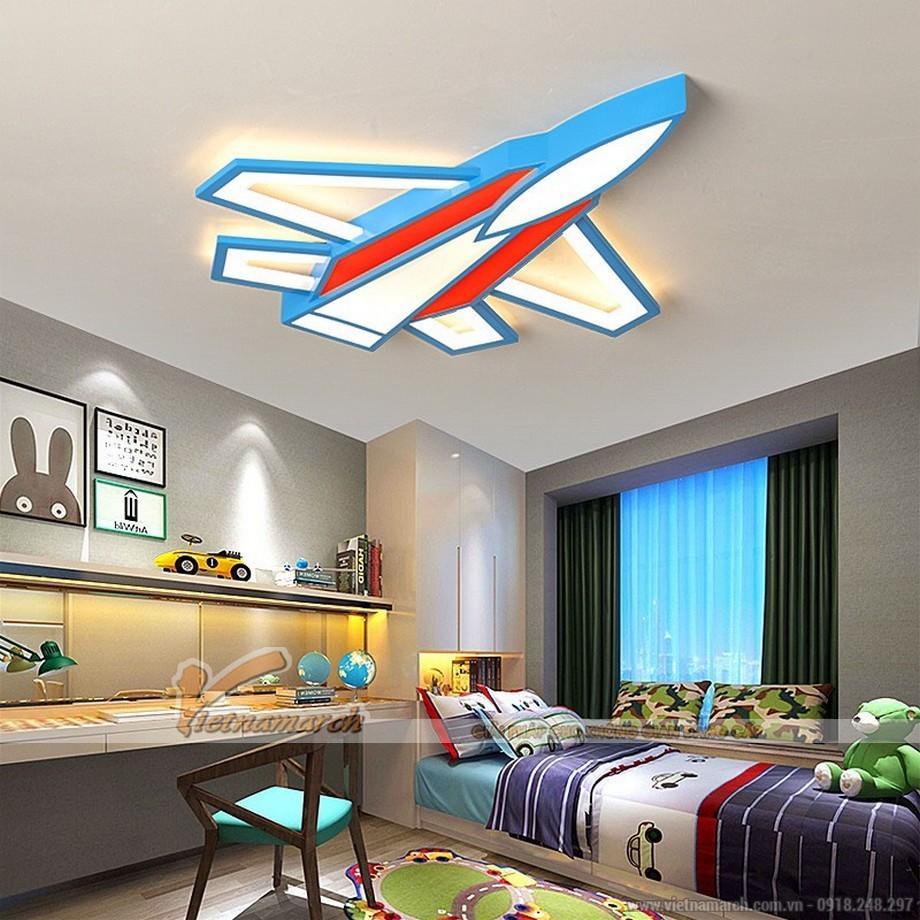 Mẫu đèn ốp trần phòng trẻ em hình máy bay