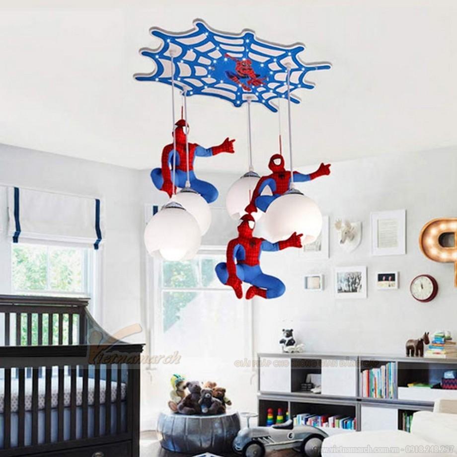 Đèn thả phòng trẻ em hình người nhện