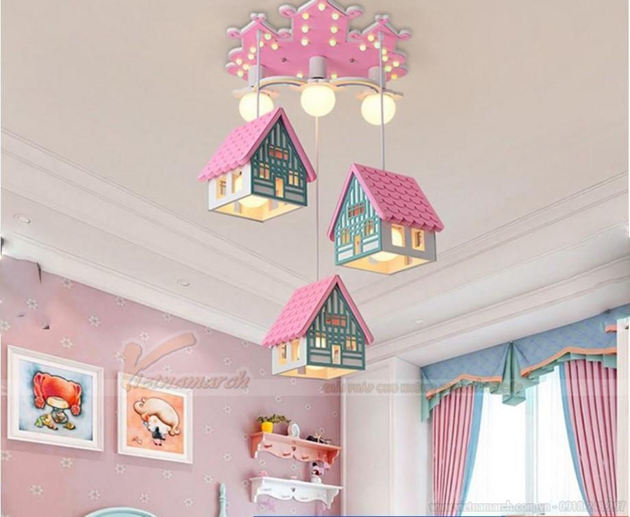 Đèn thả phòng trẻ em hình ngôi nhà đáng yêu