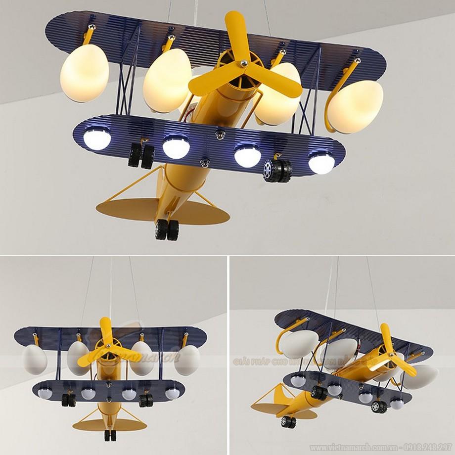 Đèn thả phòng trẻ em hình máy bay lớn