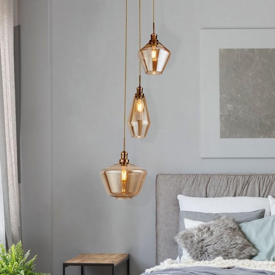 Đèn thả trần thủy tinh có thiết kế đẹp mắt, độc đáo và lung linh của chất liệu cũng như hiệu ứng