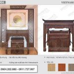 Mua bàn thờ đứng BTD04 gỗ sồi cho phòng thờ căn hộ chung cư The Golden An Khánh