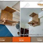 Mẫu ban thờ gỗ sồi tuyệt đẹp cho nhà chung cư