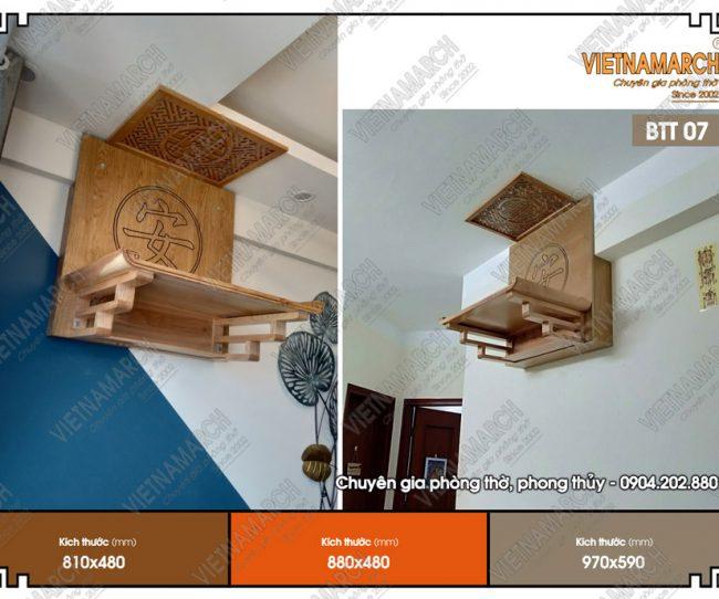 Bàn thờ gỗ sồi cho chung cư đẹp, bền và giá thành hợp lý
