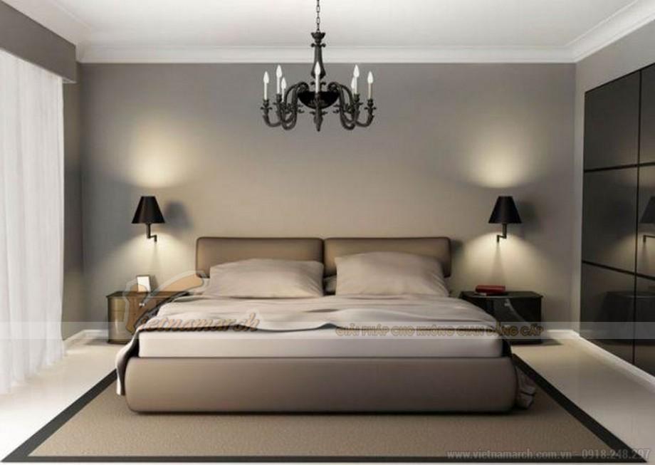 Đèn ngủ treo tường hiện đại thường sử dụng loại bóng đèn led cho ánh sáng ổn định, không chập chờn tốt cho thị lực