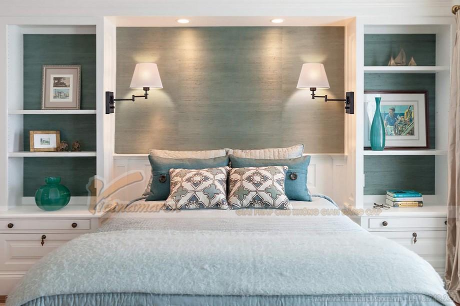 đèn ngủ treo tường hiện đại giúp tiết kiệm diện tích cho không gian phòng ngủ