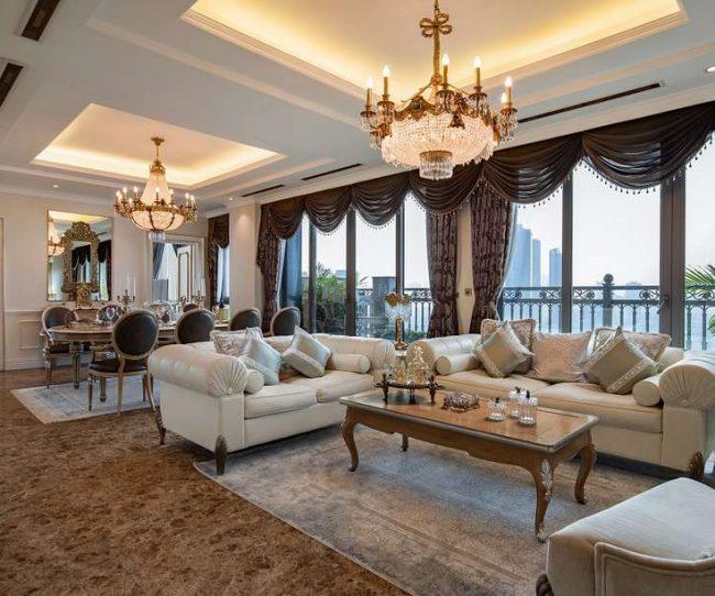 Không gian nội thất phòng khách và bếp căn hộ chung cư D'palais Louis phong cách Bamax