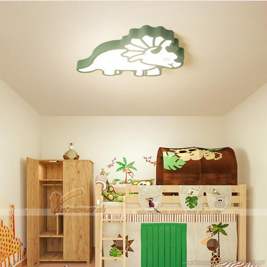 Bố trí đèn phòng ngủ em bé trần bê tông hình con vật ngộ nghĩnh