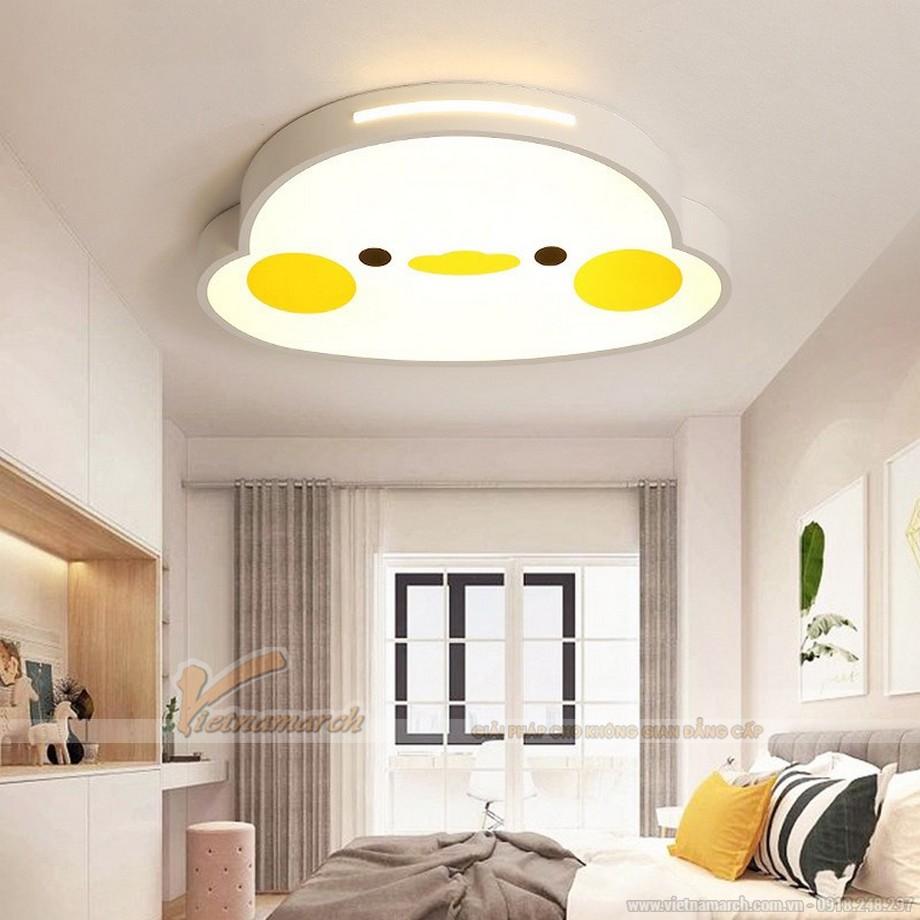 Nên lựa chọn đèn ốp trần cho phòng trẻ nhỏ có màu sắc tươi sáng