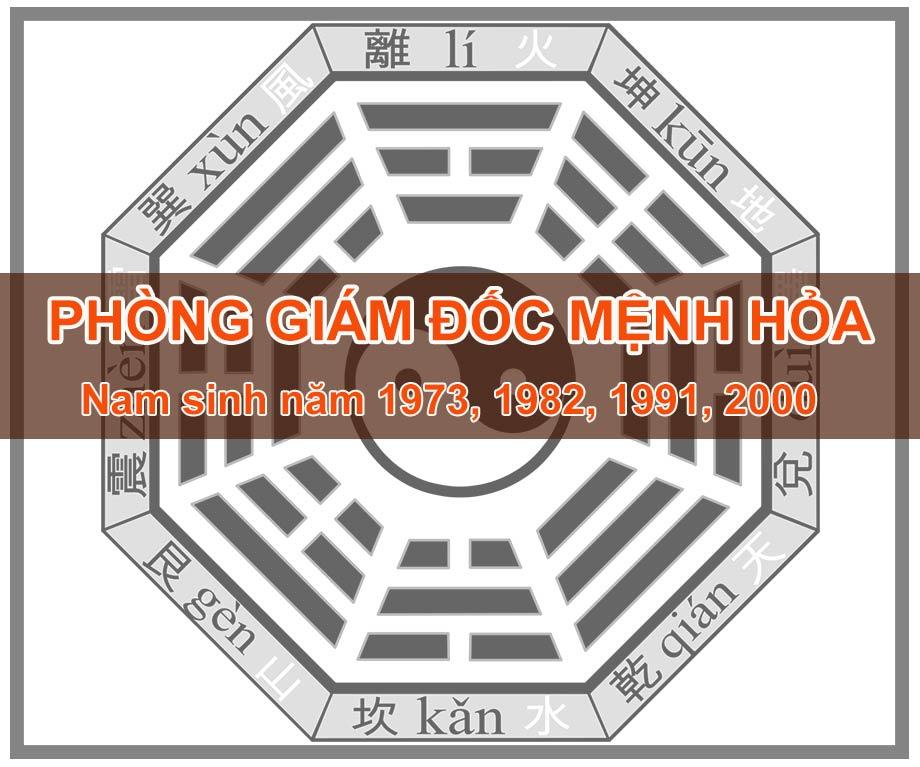Thiết kế thi công phòng giám đốc mệnh Hỏa - Nam sinh năm 1973, 1982, 1991, 2000