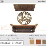 Lắp đặt bàn thờ gỗ gụ treo tường cho chung cư Vinhome Smart city Tây Mỗ