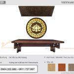 Mua bán bàn thờ online: mẫu BTT09 gỗ sồi kích thước 48×69 tại quận 12 – HCM