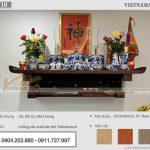 Lắp đặt bàn thờ kích thước lớn 127x61cm tại  Chung cư Định Công Plaza