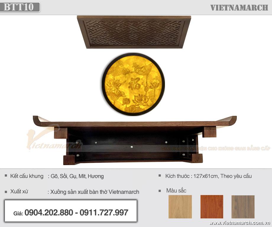 Lắp đặt bàn thờ kích thước lớn 1x27x61 cm tại Chung cư Định Công Plaza