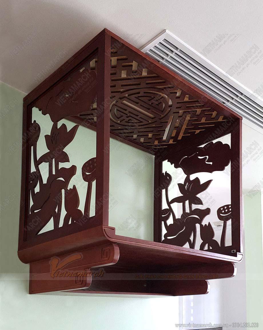 Mẫu bàn thờ treo hiện đại lắp đặt tại chung cư Vincom Skylake Phạm Hùng BTT08