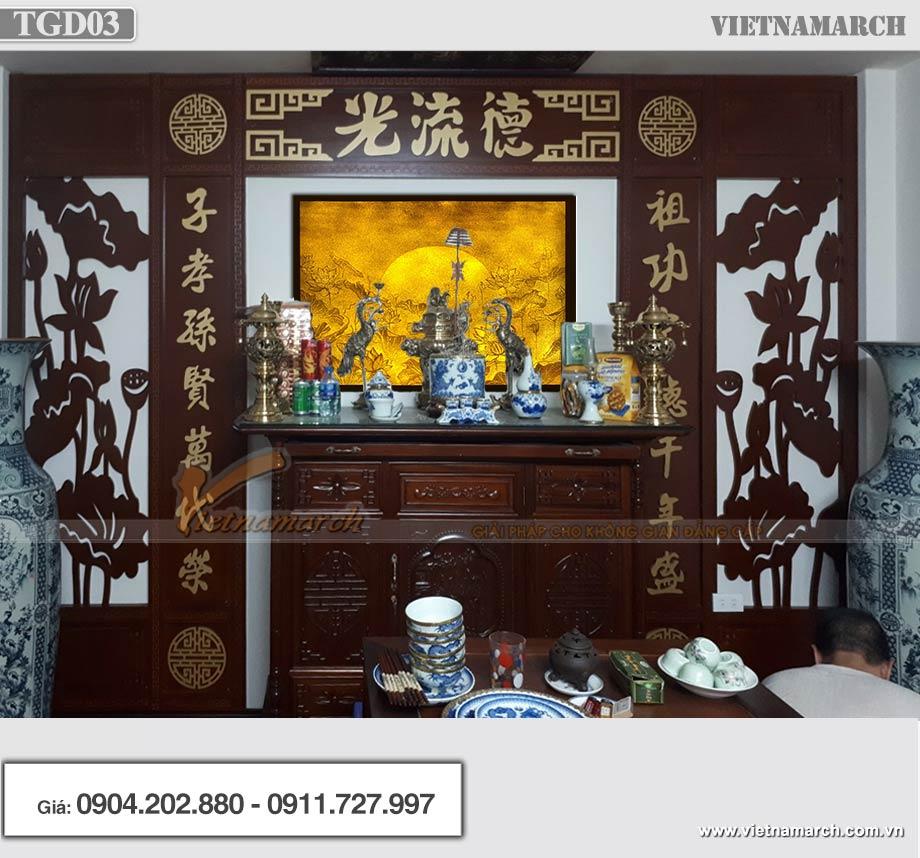 Mẫu tranh giấy dừa bàn thờ cao cấp TGD03 107x89cm