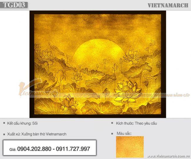 Mẫu tranh giấy dừa TDG03 cao cấp kích thước 107x89cm
