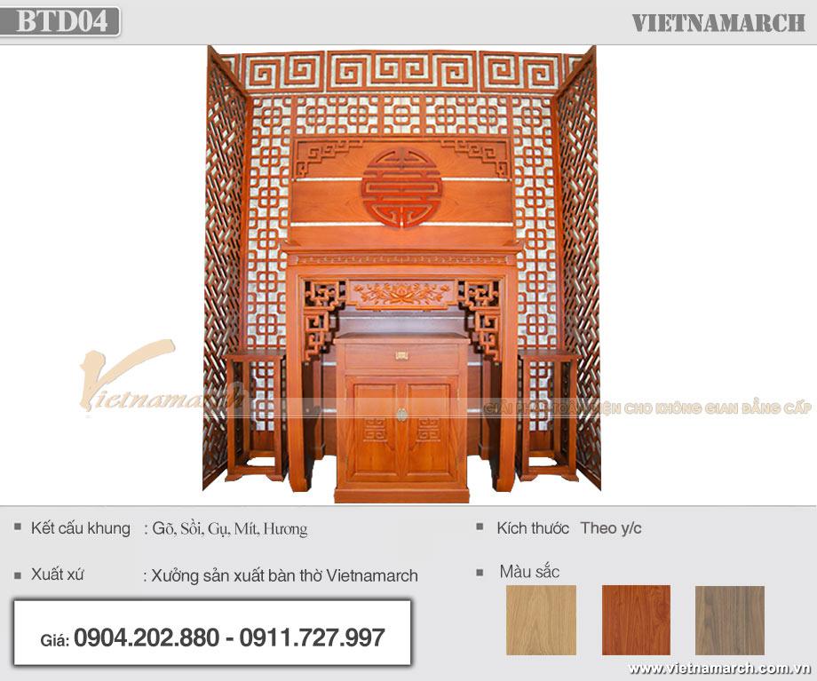 Mẫu án gian đẹp cho chủ nhà mệnh Kim - Nam sinh năm 1975, 1976, 1984, 1985, 1993, 1994