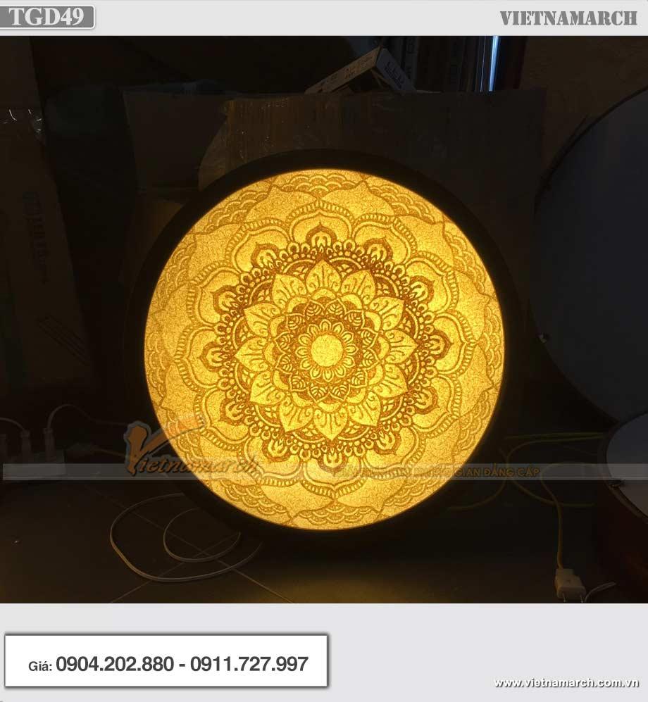 Tranh giấy dừa Mandala tròn lắp đặt tại 152 Võ Chí Công